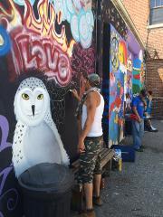 2015 Mural at homeless shelter, Evansville Indiana